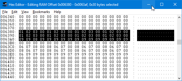 Character Magic Data in Hex Editor